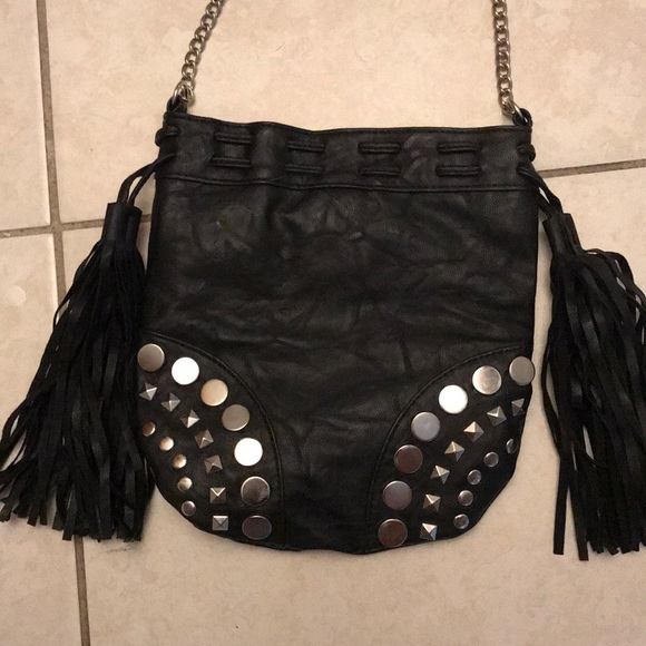 Brash Handbags - NWOT black leather studded bag